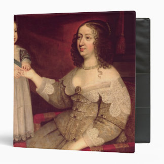 "Anne de Austria con su hijo Louis XIV Carpeta 1 1/2"""