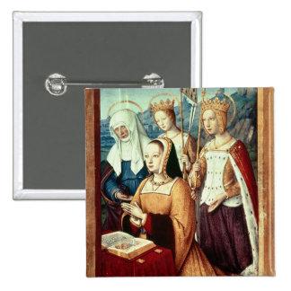 Anne de Bretaña Pin Cuadrada 5 Cm