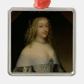 Anne de Gonzaga princesa Palatine Adorno Navideño Cuadrado De Metal