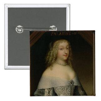 Anne de Gonzaga princesa Palatine Pin Cuadrado