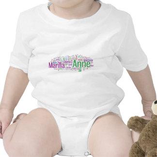 Anne de la nube verde de la palabra de los traje de bebé