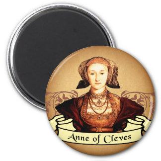 Anne de la obra clásica de Cleves Imán Redondo 5 Cm
