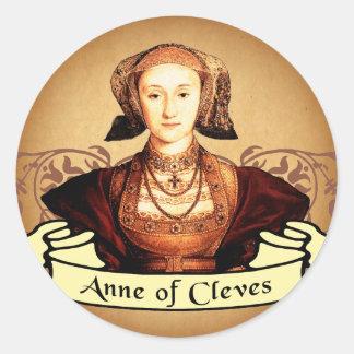 Anne de la obra clásica de Cleves Etiqueta Redonda