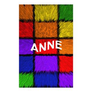 ANNE ( female names ) Stationery