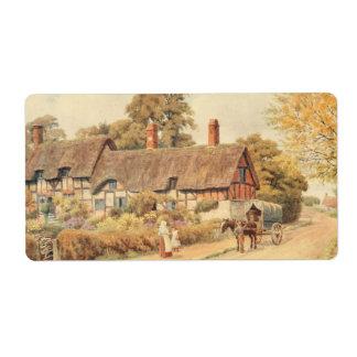 Anne Hathaway's Cottage III, Stratford-upon-Avon Label