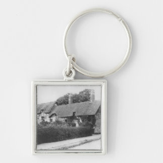 Anne Hathaway's cottage Silver-Colored Square Keychain