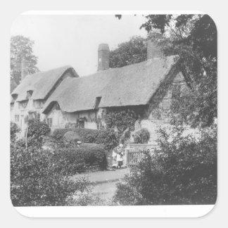 Anne Hathaway's cottage Square Sticker