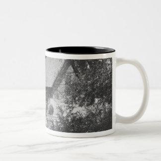 Anne Hathaway's cottage Two-Tone Coffee Mug