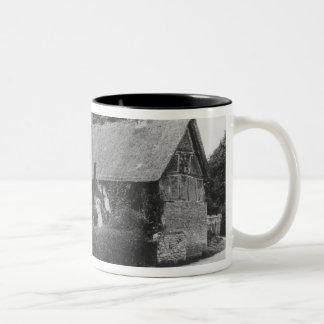 Anne Hathaway's cottage Two-Tone Coffee Mug