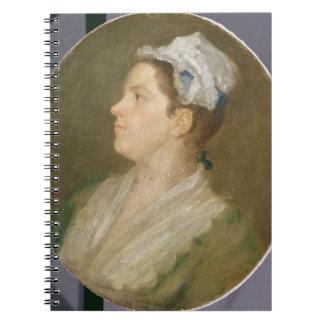 Anne Hogarth (1701-71), c.1740 (aceite en la lona) Cuadernos