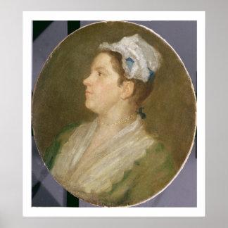 Anne Hogarth (1701-71), c.1740 (oil on canvas) (pr Poster