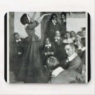 Anne Hutchinson Preaching in her House in Boston Mouse Pads