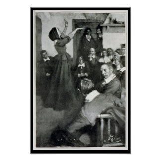 Anne Hutchinson Preaching in her House in Boston Poster