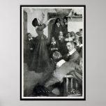 Anne Hutchinson que predica en su casa en Boston Posters
