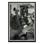Anne Hutchinson que predica en su casa en Boston Póster
