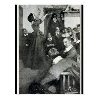 Anne Hutchinson que predica en su casa en Boston Tarjeta Postal