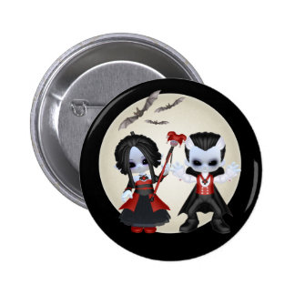 Anne-Marie And dominic Little Gothics 2 Inch Round Button