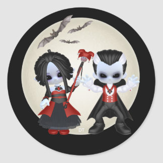 Anne-Marie And Dominic Little Gothics Classic Round Sticker
