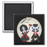 Anne-Marie And dominic Little Gothics 2 Inch Square Magnet