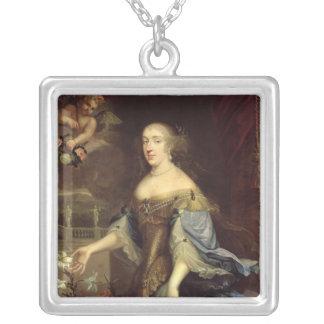 Anne-Marie d'Orleans  Duchess of Montpensier Square Pendant Necklace