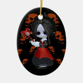 Anne-Marie Little Gothic Ceramic Ornament