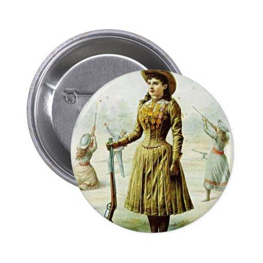 Anne Oakley Pin Redondo 5 Cm