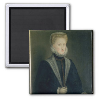 Anne of Austria, Queen of Spain 2 Inch Square Magnet