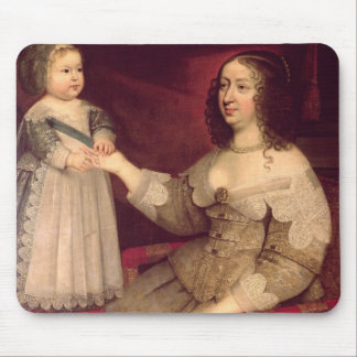 Anne of Austria  with her son Louis XIV Mouse Pad