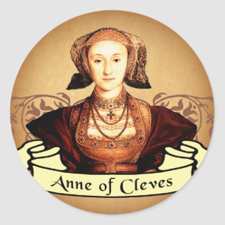 Anne of Cleves Classic Classic Round Sticker