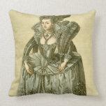 Anne of Denmark (1574-1619) wife of James I, illus Throw Pillows