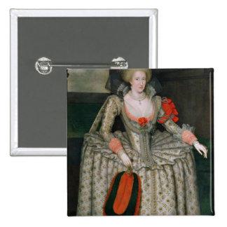 Anne of Denmark, c.1605-10 2 Inch Square Button