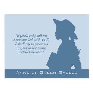 Anne of Green Gables CC0949 Montgomery quotes Postcard