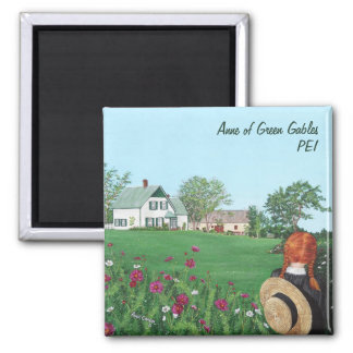 Anne of Green Gables Square Magnet