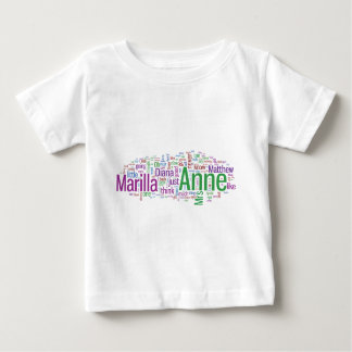 Anne of Green Gables Word Cloud Baby T-Shirt