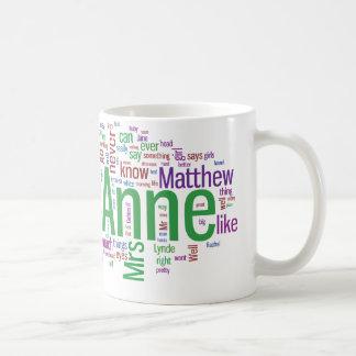 Anne of Green Gables Word Cloud Coffee Mug