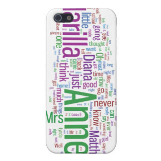 Anne of Green Gables Word Cloud iPhone 5/5S Case