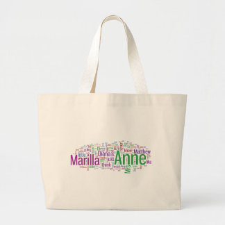 Anne of Green Gables Word Cloud Large Tote Bag