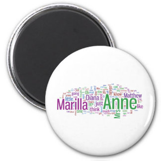 Anne of Green Gables Word Cloud Refrigerator Magnet