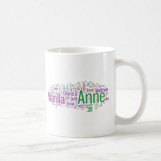 Anne of Green Gables Word Cloud Classic White Coffee Mug