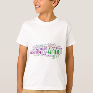 Anne of Green Gables Word Cloud T-Shirt