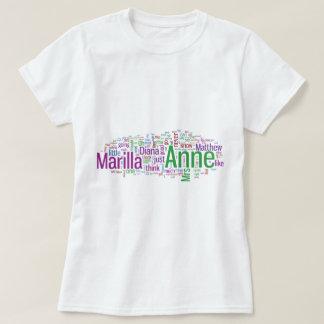 Anne of Green Gables Word Cloud Tshirt