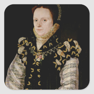 Anne Russell, Countess of Warwick , c.1565 Square Sticker
