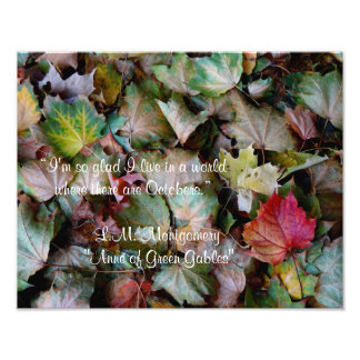 Anne Shirley October Quote Photo Print
