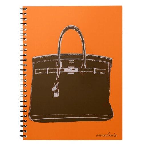ANNECHOVIE FRENCH BAG NOTEBOOK BROWN/ORANGE