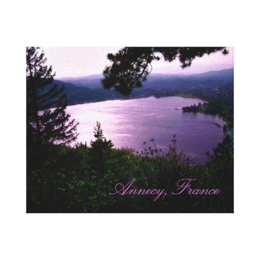 Annecy Lake, France Canvas Print