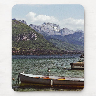 Annecy Lake with Mountains in the Background Mouse Pad