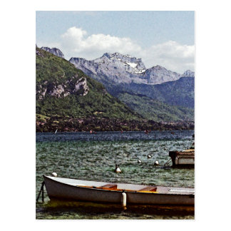 Annecy Lake with Mountains in the Background Postcard