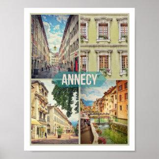 "Annecy Poster (28cm x 21.6cm/11"" x 8.5"") Matte"