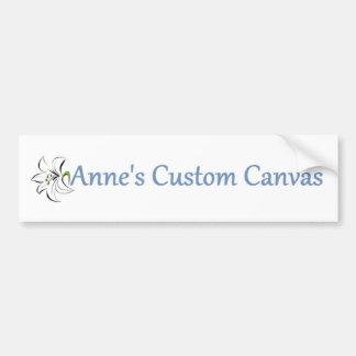 Anne's Custom Canvas Bumper Sticker