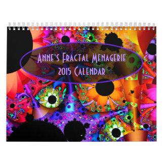 Anne's Fractal Menagerie 2015 Calendar